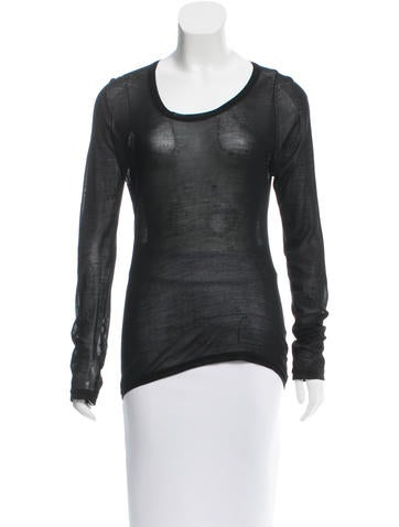 Helmut Lang Silk Cutout Top None
