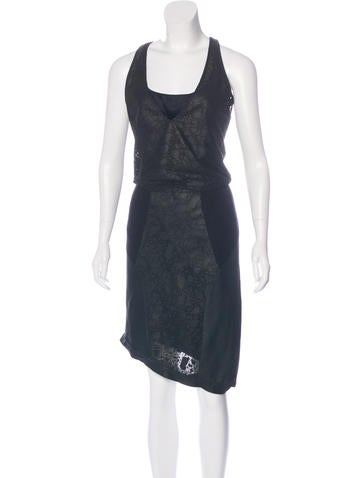 Helmut Lang Leather Sheath Dress w/ Tags None