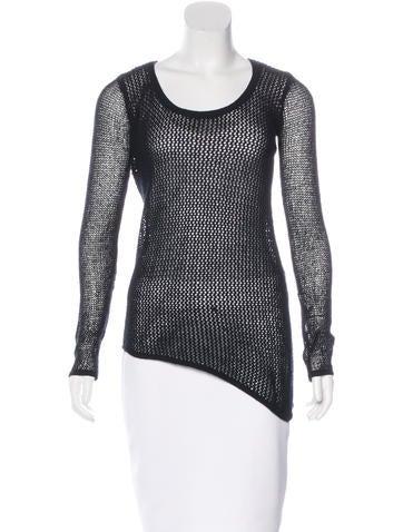 Helmut Lang Wool Open Knit Sweater None