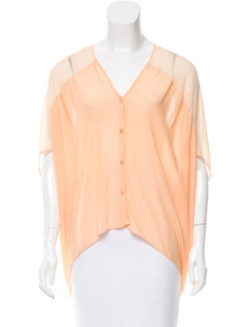 Helmut Lang Oversize Button-Up Top None