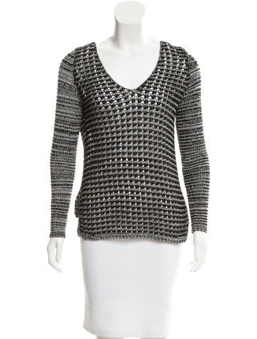 Helmut Lang Open Knit High-Low Top None