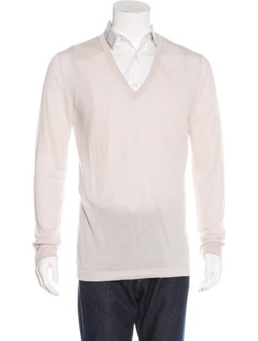 Helmut Lang Cashmere V-Neck Sweater None