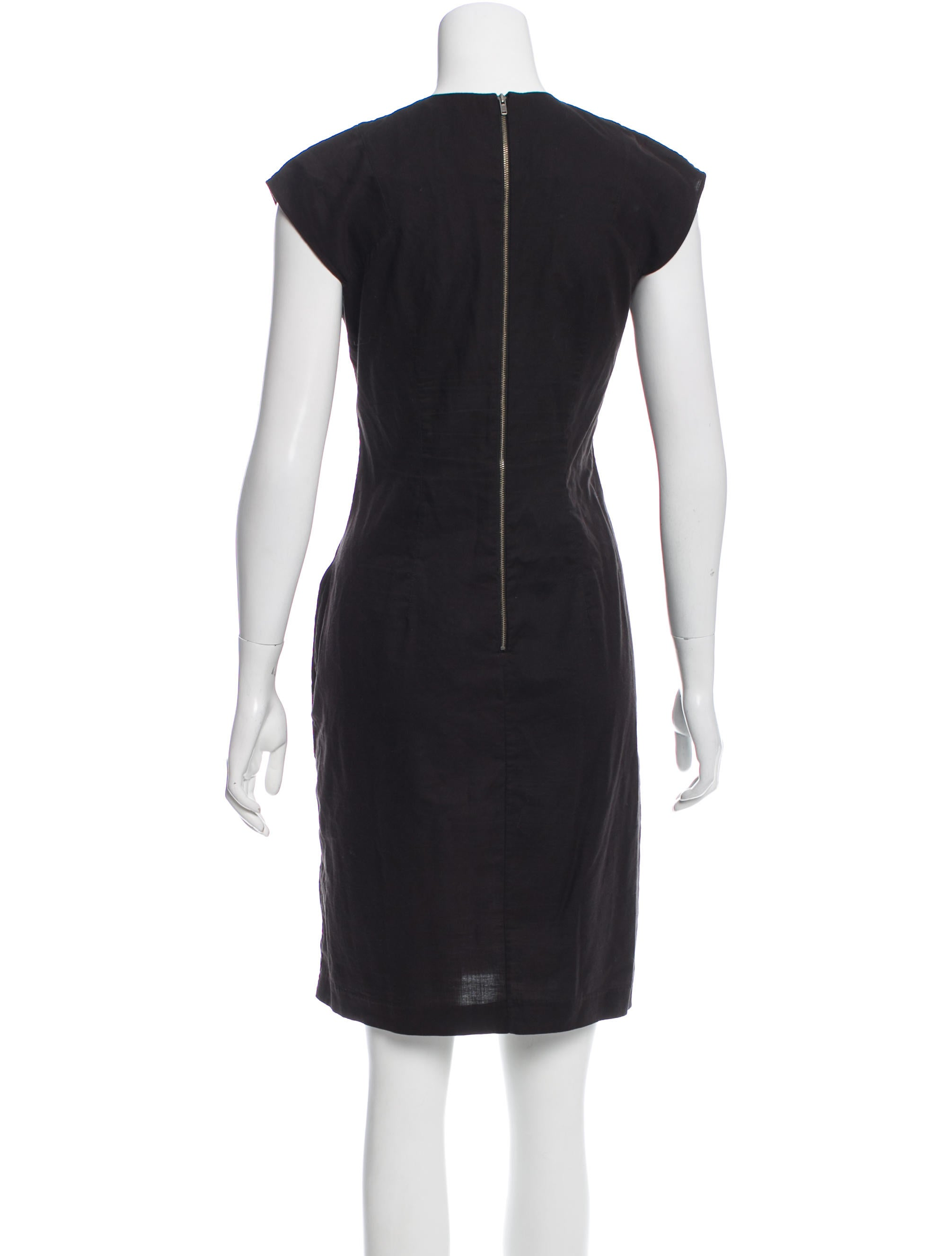 helmut lang kneelength shift dress clothing