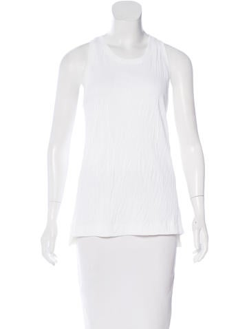 Helmut Lang Sleeveless Rib Knit Top None
