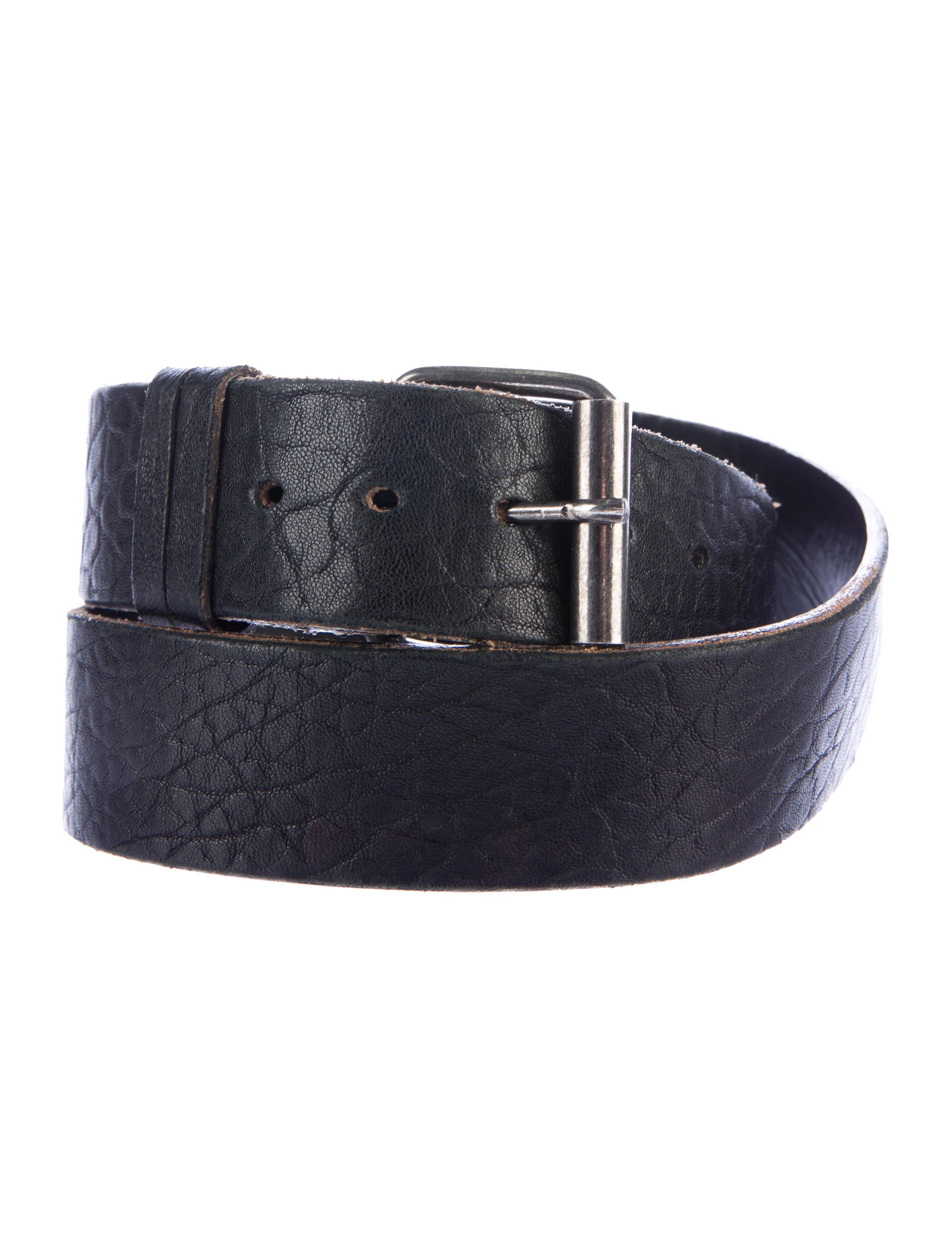helmut lang distressed leather belt accessories