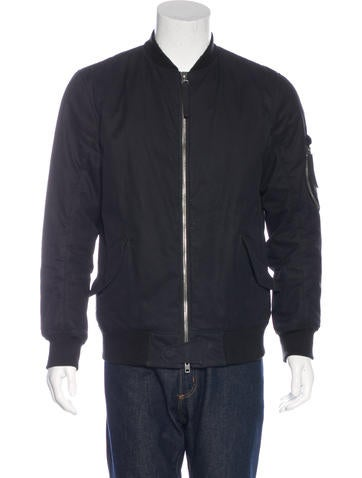 Helmut Lang Rib Knit-Trimmed Bomber Jacket None