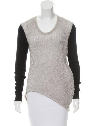 Helmut Lang Plunging Neck Knit Top None