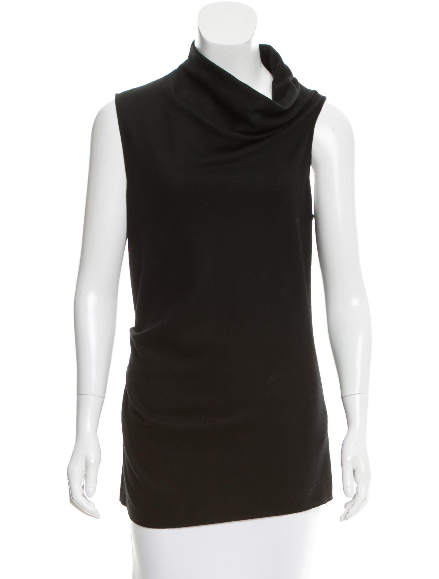 Helmut lang sleeveless wool top clothing whelm47607 for Best wool shirt jackets