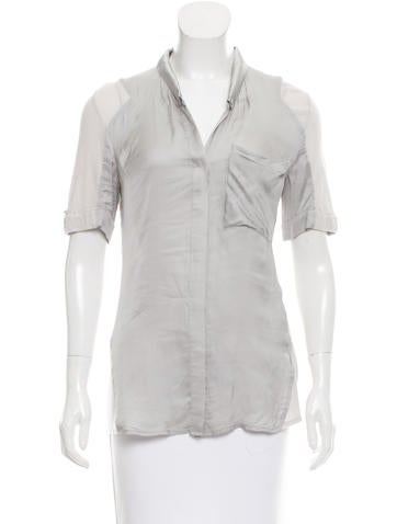 Helmut Lang Short Sleeve Button-Up Top None