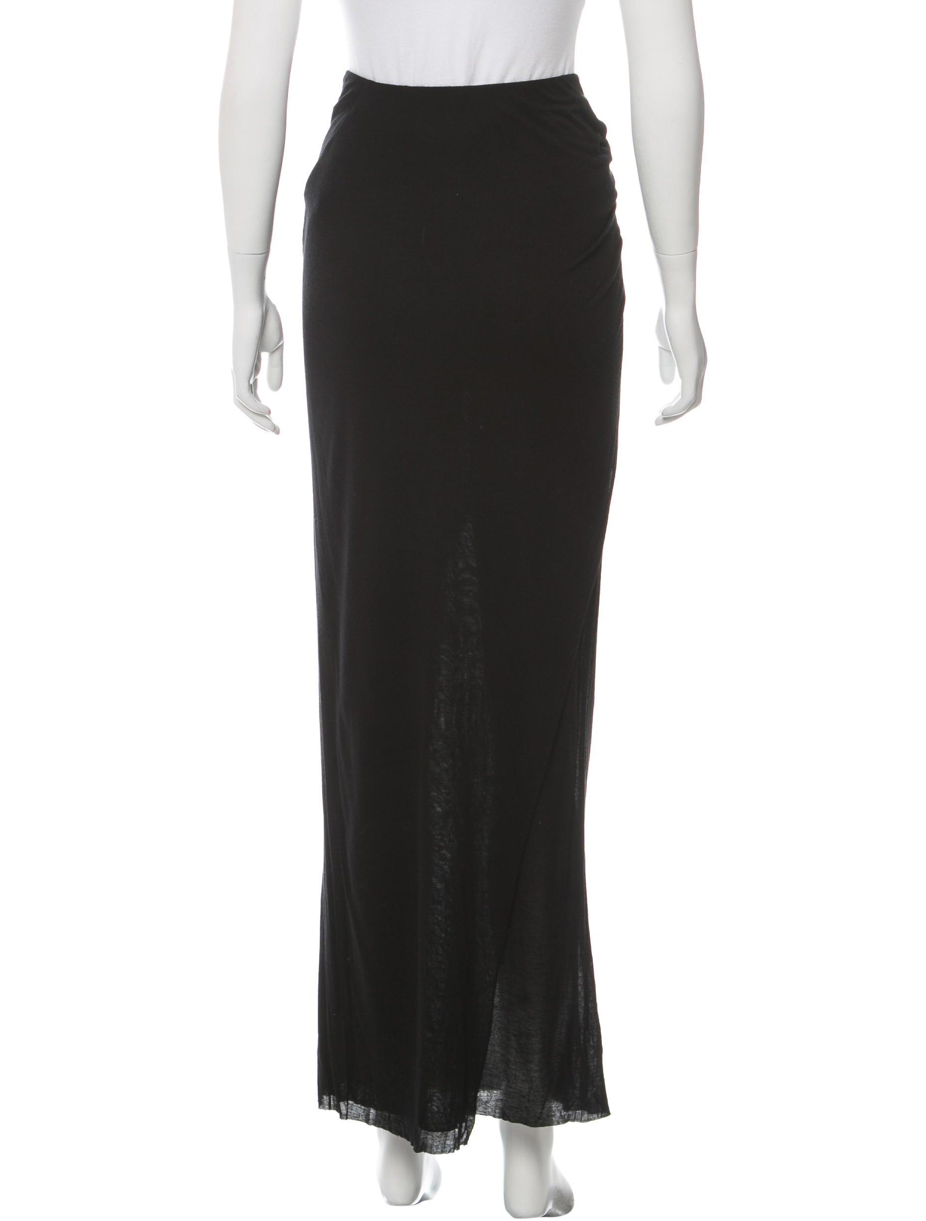 helmut lang draped maxi skirt clothing whelm47971