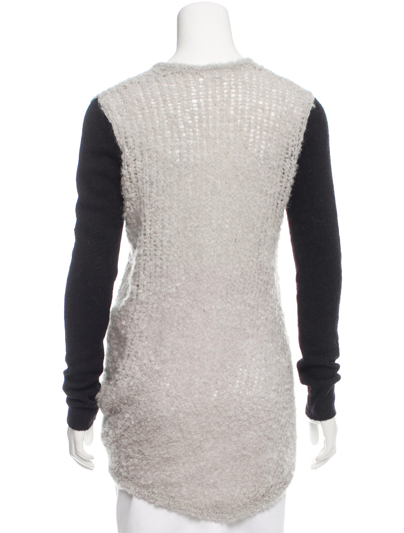 Open Knit Sweater Pattern : Helmut Lang Asymmetrical Open Knit Sweater - Clothing ...