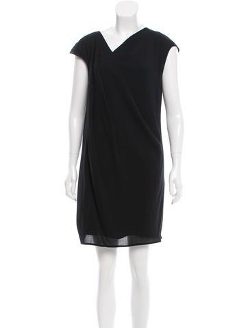 Helmut Lang Mini V-Neck Dress None