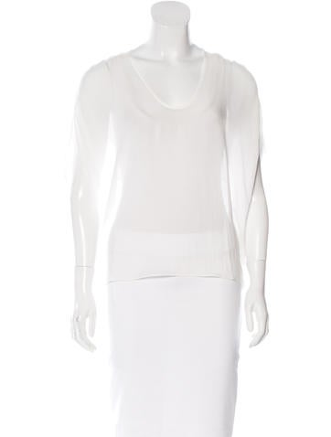 Helmut Lang V-Neck Sleeveless Top None