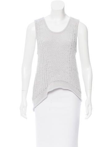 Helmut Lang Open Knit Sleeveless Sweater None