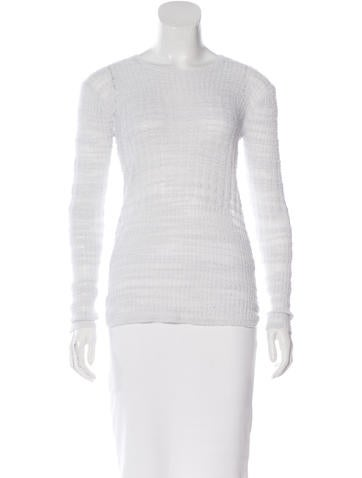 Helmut Lang Asymmetrical Rib Knit Sweater None