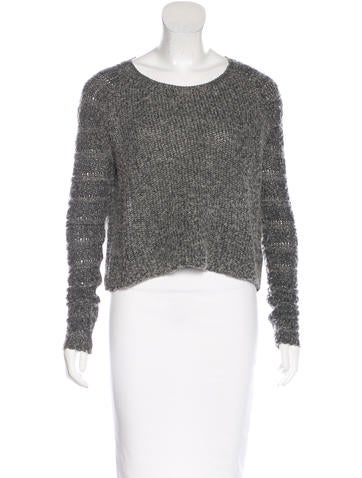 Helmut Lang Cropped Wool-Blend Sweater None
