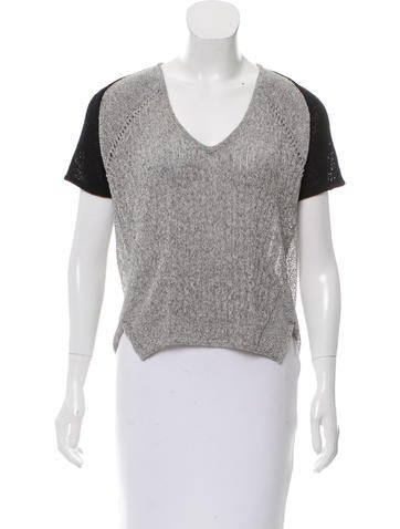 Helmut Lang Short Sleeve Knit Top None