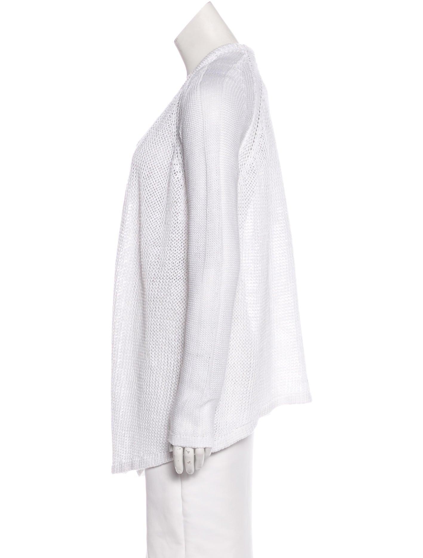Knitting Pattern Open Front Cardigan : Helmut Lang Knit Open Front Cardigan - Clothing - WHELM49494 The RealReal