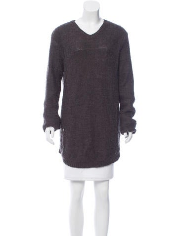 Helmut Lang Distressed Oversize Sweater None