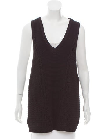 Helmut Lang V-Neck Sweater Vest None