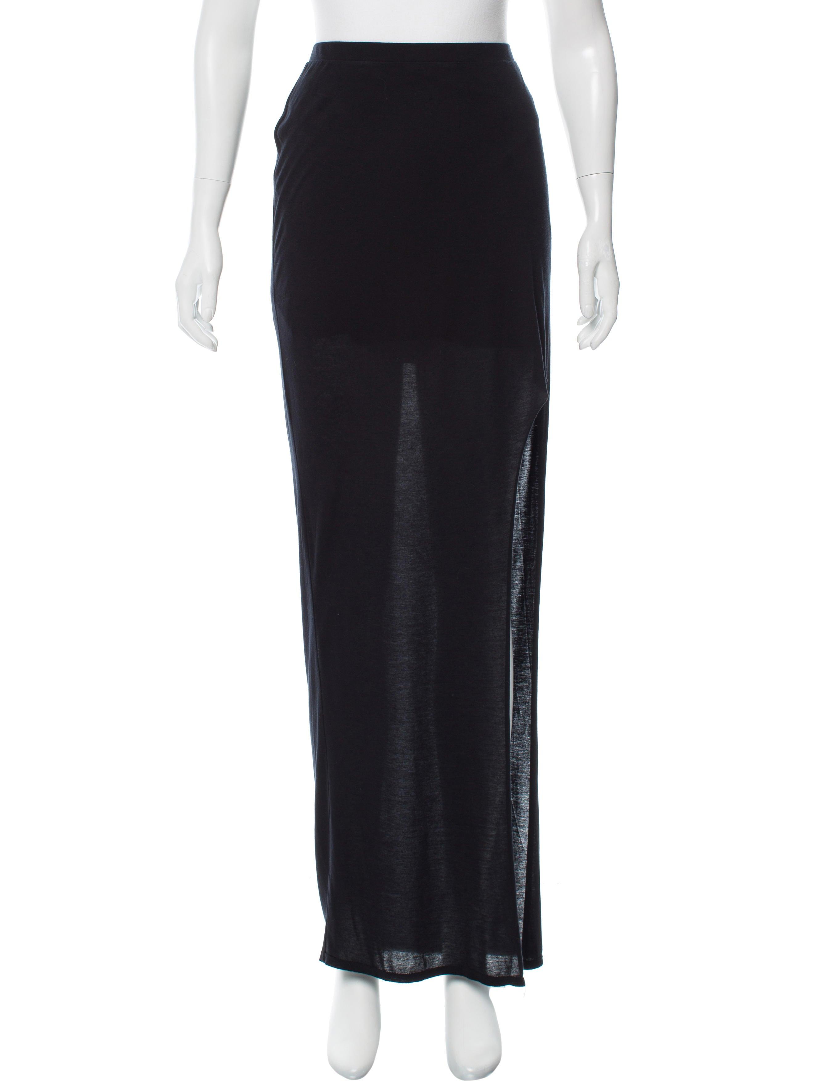 helmut lang casual maxi skirt clothing whelm50227