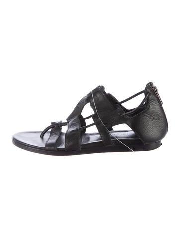 Helmut Lang Leather Cage Sandals free shipping 2014 outlet best place newest online mjVttuB