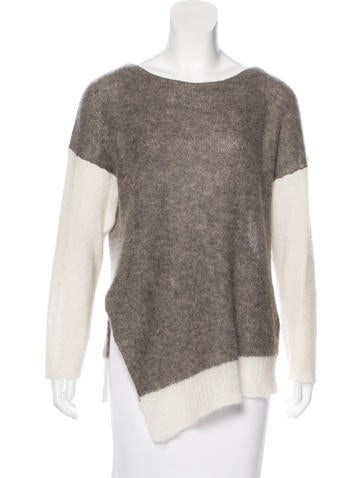Helmut Lang Alpaca & Mohair-Blend Top None