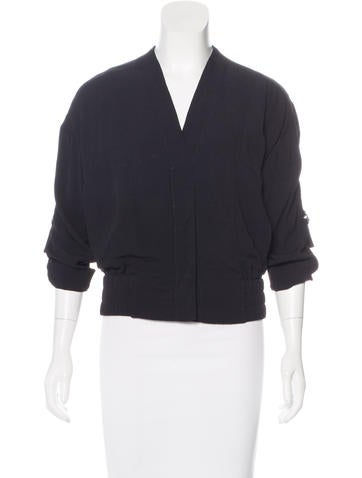 Helmut Lang Cropped Woven Jacket None