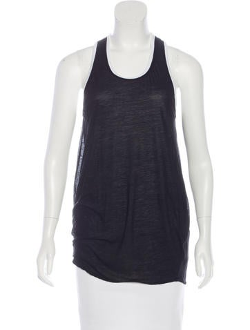 Helmut Lang Sleeveless Scoop Neck Top None