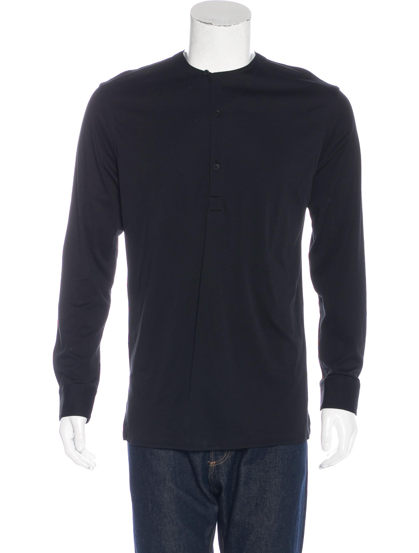 Helmut lang long sleeve henley t shirt clothing for Henley t shirt long sleeve