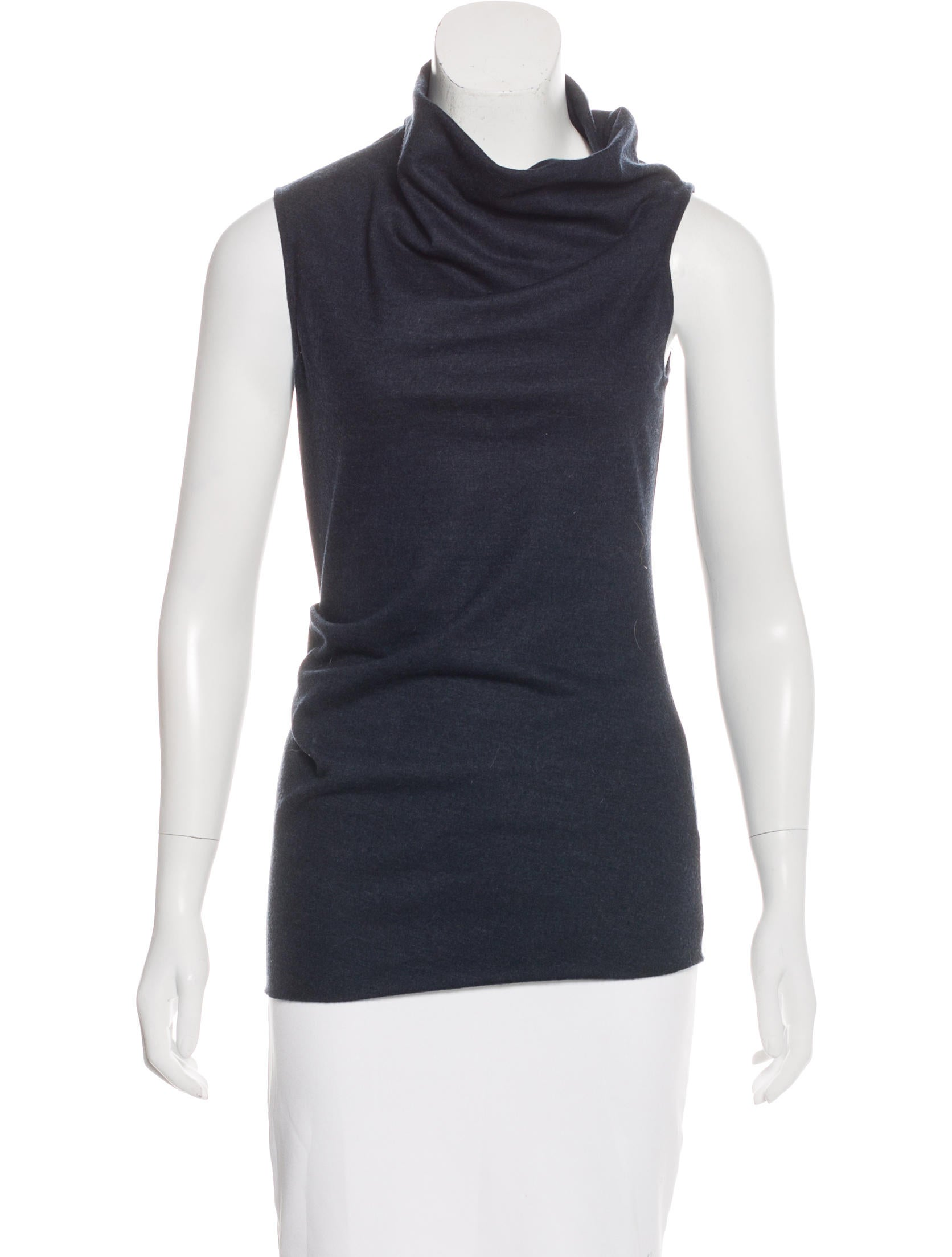 Helmut lang wool sleeveless top clothing whelm51790 for Best wool shirt jackets
