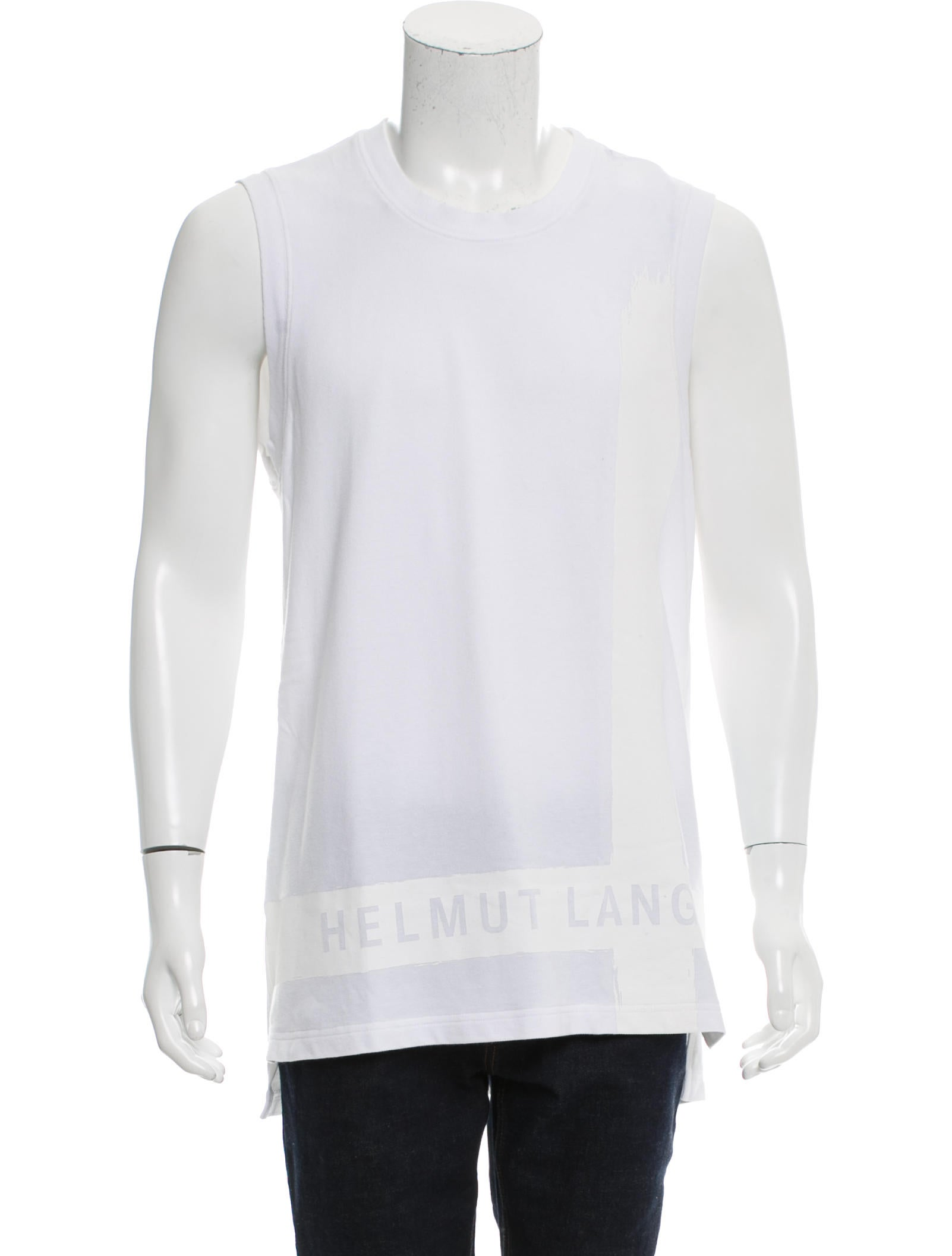 Helmut lang sleeveless graphic t shirt clothing for Sleeveless graphic t shirts