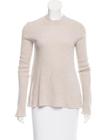Helmut Lang Cashmere-Linen Rib Knit Sweater None