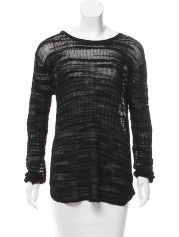 Helmut Lang Textured Knit Sweater None