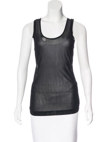 Helmut Lang Sheer Knit Top None
