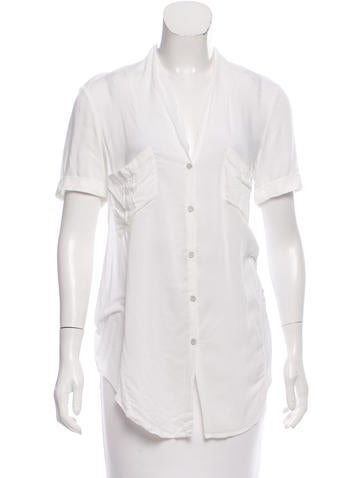 Helmut Lang Knit Button-Up Top None