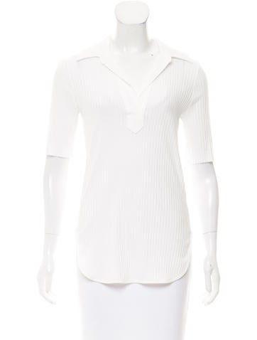 Helmut Lang Short Sleeve V-Neck Top None
