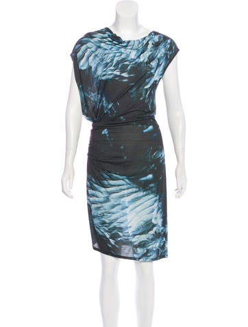 Helmut Lang Draped Knit Dress None