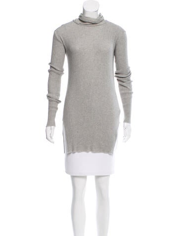 Helmut Lang Rib Knit Turtleneck Sweater None