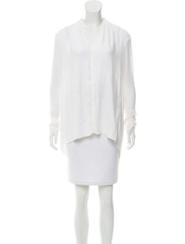 Helmut Lang Long Sleeve Button-Up Top None