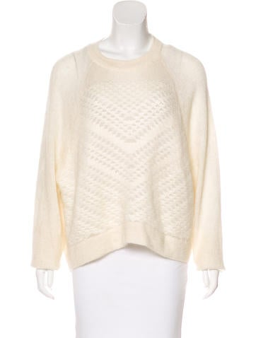 Helmut Lang Patterned High-Low Sweater None