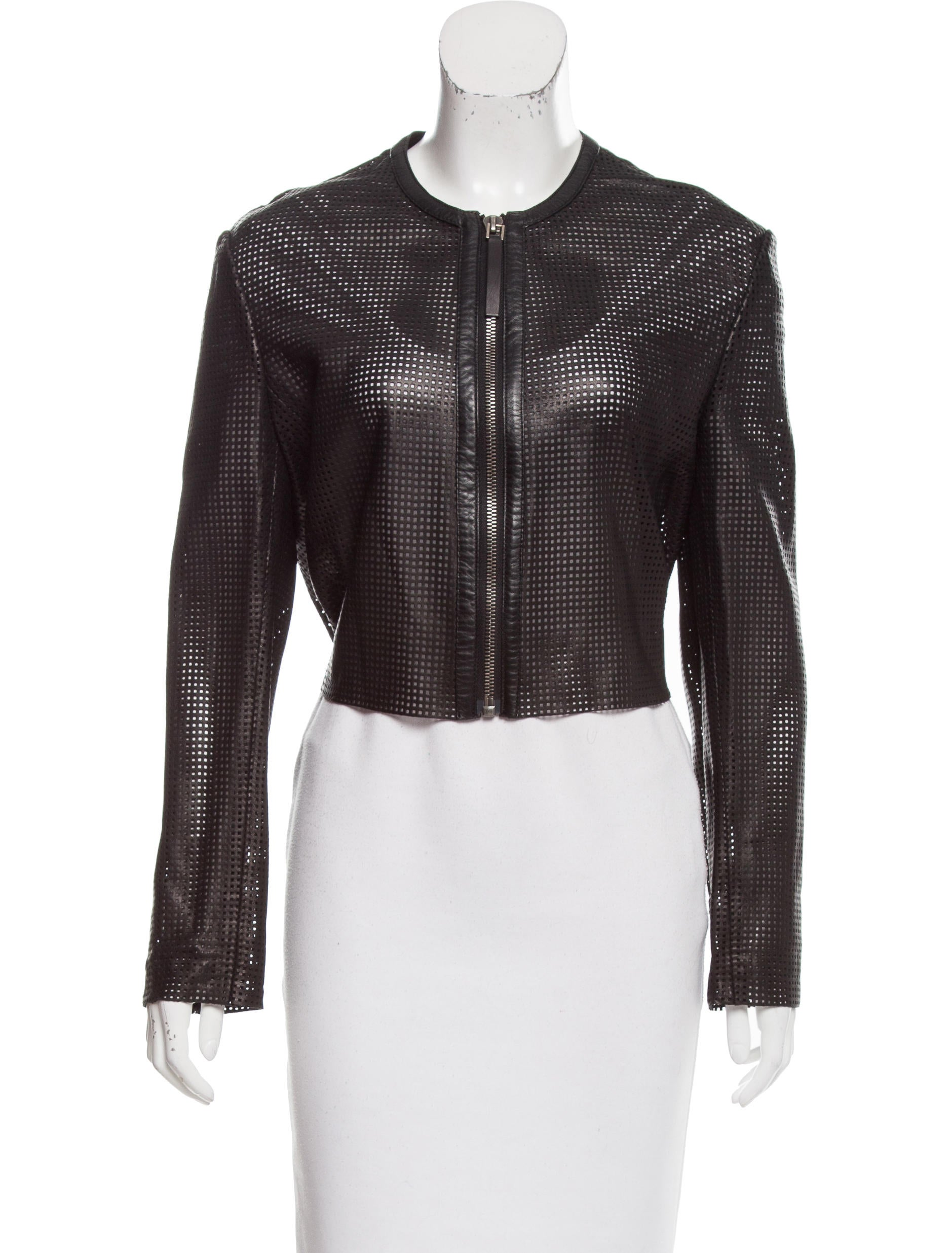 Helmut lang cropped leather jacket