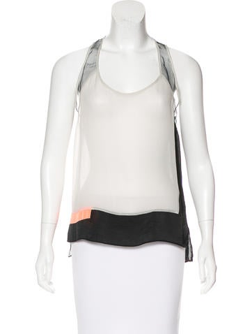 Helmut Lang Color Blocked Sleeveless Top None