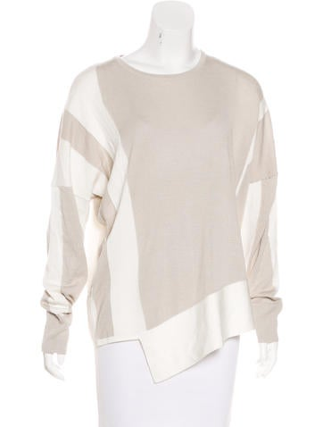 Helmut Lang Long Sleeve Asymmetrical Sweater None