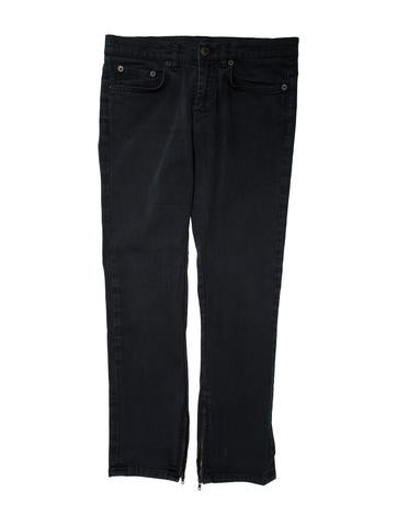 Helmut Lang Mid-Rise Straight-Leg Jeans None