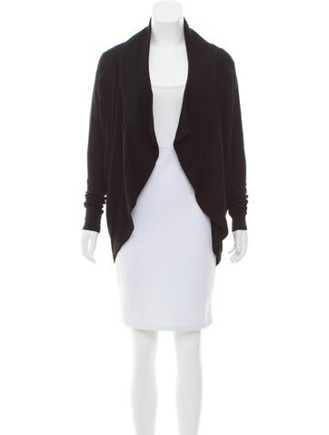 Helmut Lang Open-Front Draped Cardigan None
