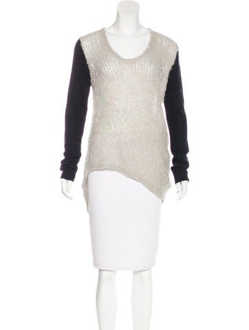 Helmut Lang Knit High-Low Sweater None