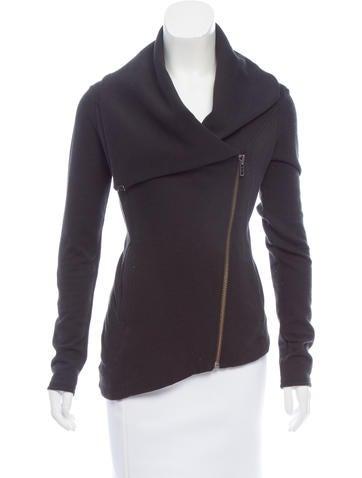 Helmut Lang Asymmetrical Zip-Front Sweater None
