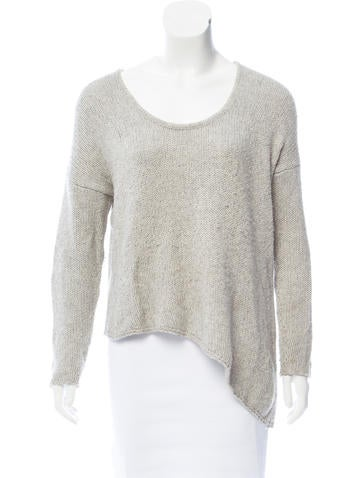 Helmut Lang Rib Knit Scoop Neck Sweater None