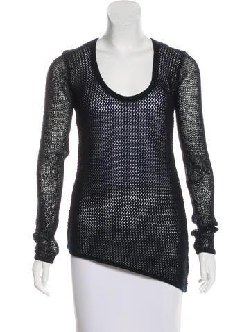 Helmut Lang Open Knit Long Sleeve Sweatshirt None